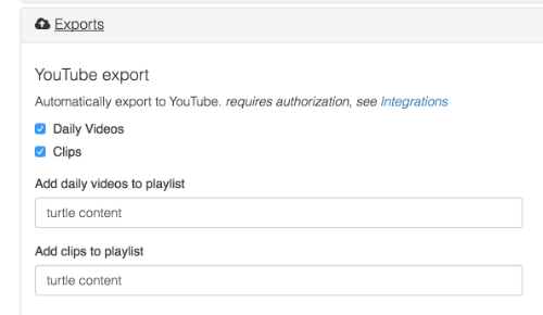 Automatic YouTube export   support