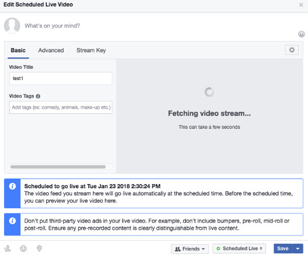 How to stream your IP camera to Facebook Live | support