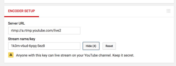 Tutorial: Stream your IP camera to YouTube Live | support