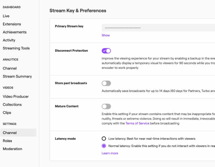 twitch.tv - connect ip camera via webcam.io